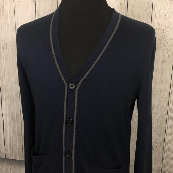 1b9664d4a0f BANANA REPUBLIC M Blue Silk / Cashmere Cardigan